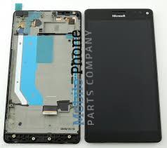 Genuine Microsoft Lumia 950 XL, 950 XL Dual Sim LCD + Digitiser Black - Part No: 00813X2