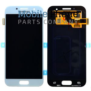 Genuine Samsung Galaxy A3 2017 A320F LCD + Digitiser Blue - Part No: GH97-19732C