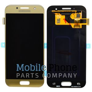 Genuine Samsung Galaxy A3 2017 A320F LCD + Digitiser Gold - GH97-19732B