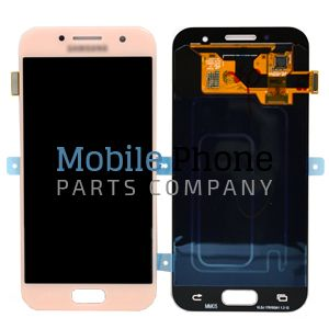 Genuine Samsung Galaxy A3 2017 A320F LCD + Digitiser Pink - Part No: GH97-19732D