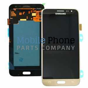 Genuine Samsung Galaxy J3 2016 J320F LCD + Digitiser Gold - Part No: GH97-18414B