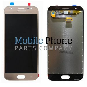 Genuine Samsung Galaxy J3 2017 J330F LCD + Digitiser Gold - Part No: GH96-10990A