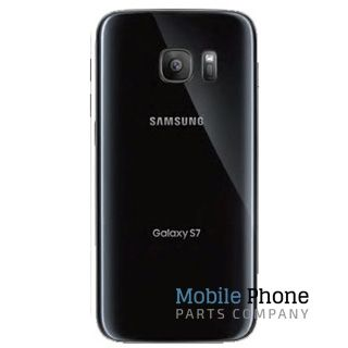 Genuine Samsung Galaxy S7 G930F Battery Back Cover Black - Part No: GH82-11384A