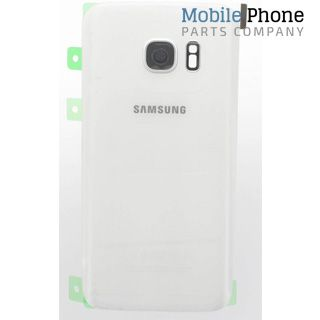 Genuine Samsung Galaxy S7 G930F Battery Back Cover White - Part No: GH82-11384D