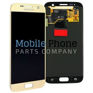 Genuine Samsung Galaxy S7 G930F LCD + Digitiser Gold - Part No: GH97-18523C