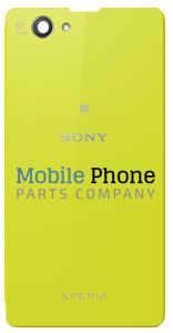 Genuine Sony Xperia Z1 Compact D5503 Battery Back Cover Yellow - Part No: 1276-8475