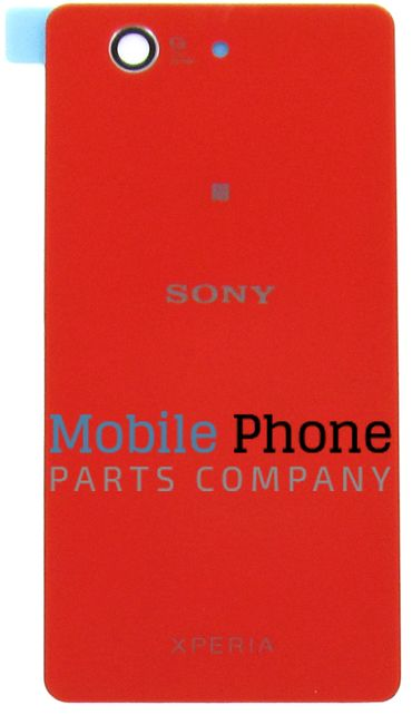 Genuine Sony Xperia Z3 Compact D5803 / D5833 Battery Back Cover With NFC Red - Part No: 1285-1193