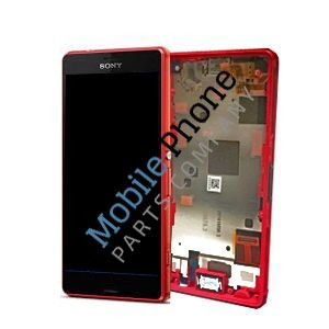 Genuine Sony Xperia Z3 Compact LCD + Digitiser With Frame Orange - Part No: 1289-2687