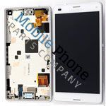 Genuine Sony Xperia Z3 Compact LCD + Digitiser With Frame White - Part No: 1289-2680