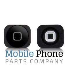 iPhone 5C Home Button With Rubber Gasket And Metal Spacer - Black